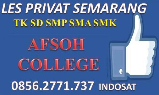 LES PRIVAT TK SD SMP SMA SMK AFSOH COLLEGE 0856-2771-737