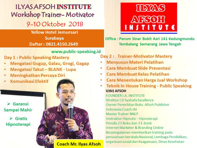 training of Trainer Motivator IAI 0821-4150-2649 Oktober 2018