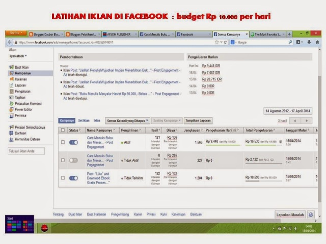 latihan fb ads posting 0821-4150-2649 Telkomsel