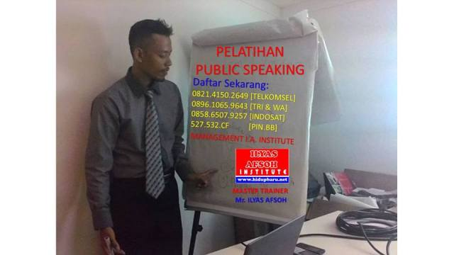 public speaking ilyas afsoh 0821 4150 2649 Telkomsel