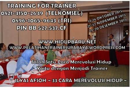 SURABAYA PELATIHAN TRAINER 0821-4150-2649