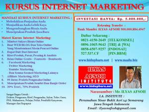 Pusat Pelatihan Internet Marketing Semarang 0896-1065-9643 [TRI]